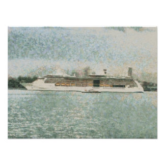Cruise ship at rest photographic print