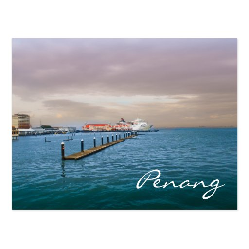 Cruise Ship At The Pier Postcard