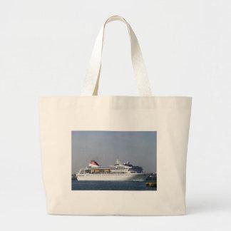Cruise ship Braemar. Large Tote Bag