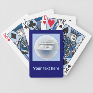 Cruise Ship Cameo Bicycle Playing Cards
