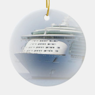 Cruise Ship Cameo Christmas Ornament