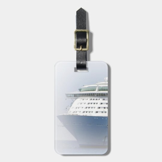 Cruise Ship Cameo Personalised Luggage Tag