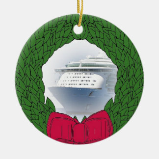 Cruise Ship Dated Christmas Ornament