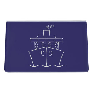 Cruise ship desk business card holder
