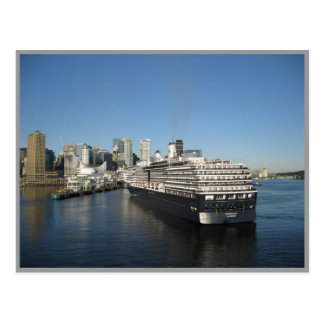 Cruise ship docking - Canada Place, Vancouver BC Postcard