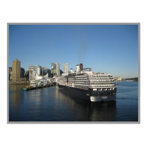 Cruise ship docking - Canada Place, Vancouver BC Post Card