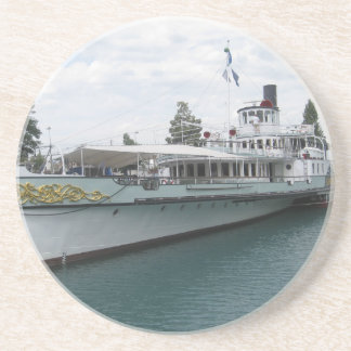 Cruise ship for leisure trip on Lake Thun Beverage Coaster