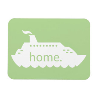 Cruise Ship Home - light green Magnet