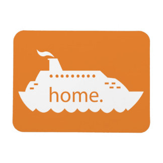 Cruise Ship Home - orange Magnet