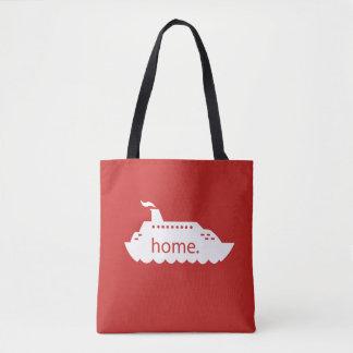 Cruise Ship Home - red Tote Bag