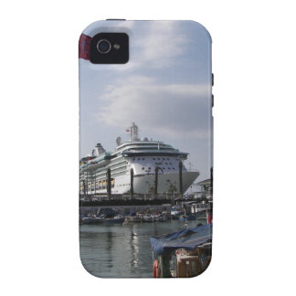 Cruise Ship In Harbor Vibe iPhone 4 Cases