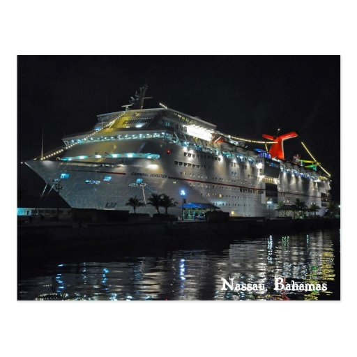 Cruise Ship In Nassau, Bahamas Post Cards