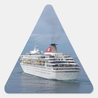 Cruise Ship Leaving Malta Triangle Sticker