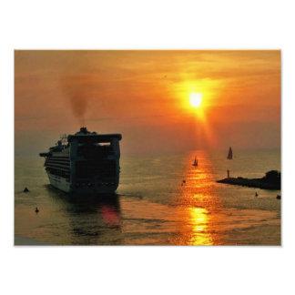 Cruise ship leaving Puerto Vallarta Photograph