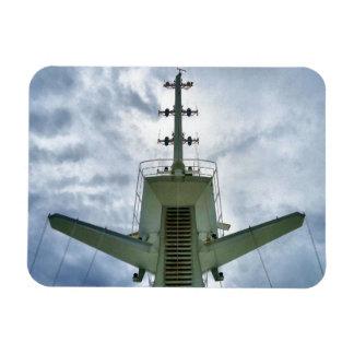 Cruise Ship Mast Rectangle Magnet