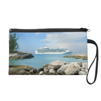 Cruise Ship off CocoCay Wristlet