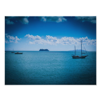 Cruise Ship Off The Coast Photo Prints