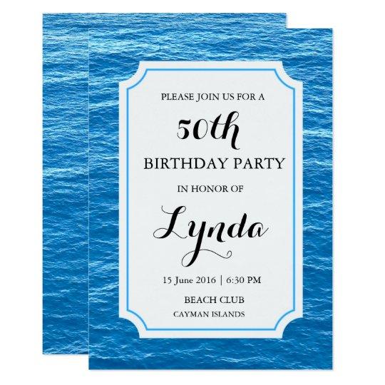 Cruise Ship on the Sea Birthday Invitation