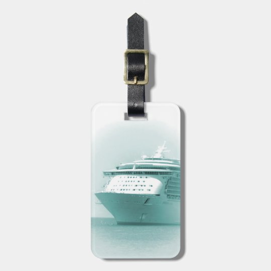 Cruise Ship Personalised Luggage Tag