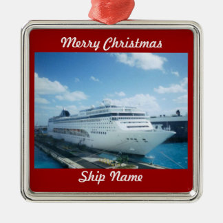 Cruise Ship Photo L1 Customizable Christmas Ornament