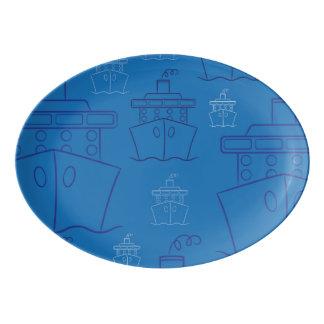 Cruise ship porcelain serving platter