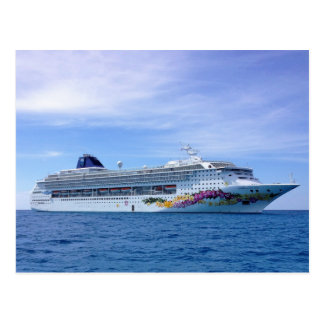 Cruise Ship Postcard