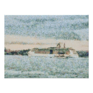 Cruise ship ready for voyage photo print