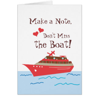 Cruise Ship Save the Wedding Date Card