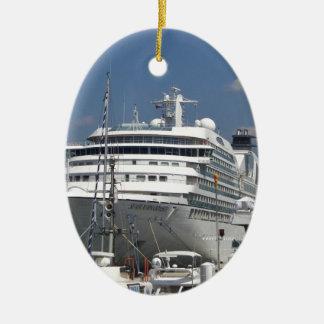 Cruise Ship Seabourn Odyssey Ceramic Oval Decoration