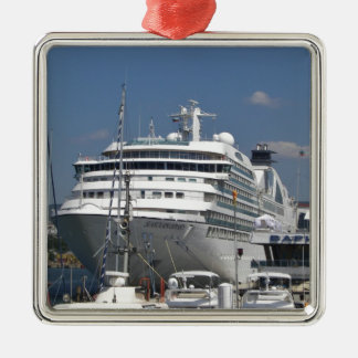 Cruise Ship Seabourn Odyssey Silver-Colored Square Decoration