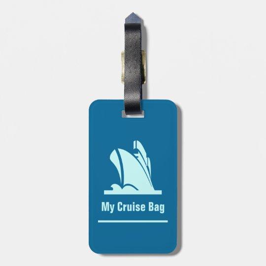 Cruise Ship Teal Luggage Tag