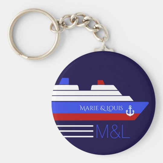 cruise ship travel personalised key ring