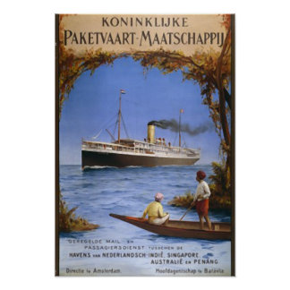 Cruise Ship Travel Vintage Framed Art Poster Print