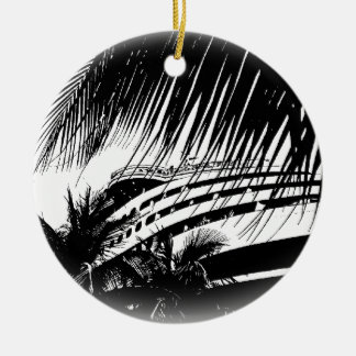 Cruise Ship Vacation | Black and White Christmas Christmas Ornament