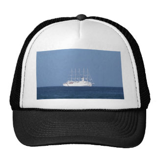 Cruise Ship With Sails Mesh Hats