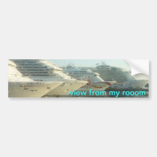 Cruise Ships at Sunrise Bumper Sticker