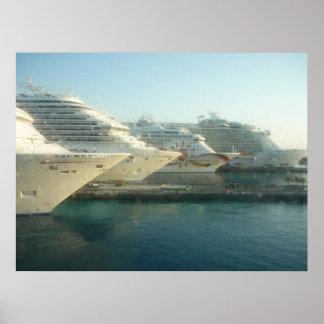 Cruise Ships at Sunrise Canvas Print