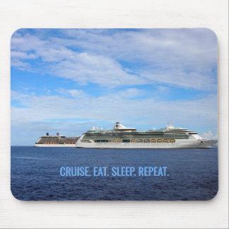 Cruise Ships Caribbean Vacation | Cruise Eat Sleep Mouse Mat