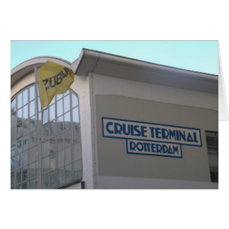 Cruise Terminal, Wilhelmina quay, Rotterdam Greeting Card