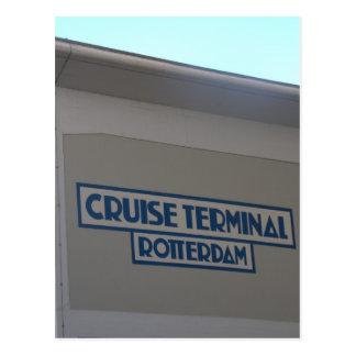 Cruise Terminal Wilhelmina quay Rotterdam Postcard