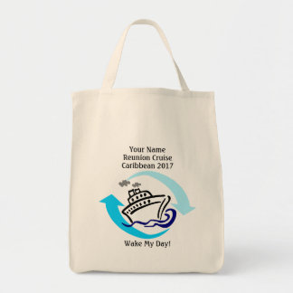 Cruise Themed Grocery Tote Bag