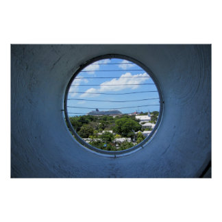 Cruise through a lighthouse window poster