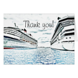 Cruise Vacation | Nautical Thank You Card