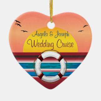 Cruise Wedding Personalized Favor Christmas Ornament