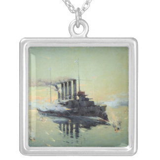 Cruiser Askold fighting Silver Plated Necklace