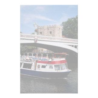 Cruiser passing under, Lendal Bridge, York, U.K. Personalized Stationery