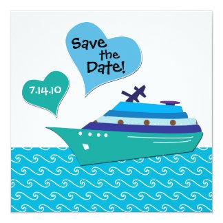 Cruiseship Save the Wedding Date Card 13 Cm X 13 Cm Square Invitation Card