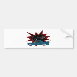 Cruisin Blue Bumper Sticker