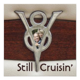 Cruisin Couple Photo Anniversary Party 13 Cm X 13 Cm Square Invitation Card