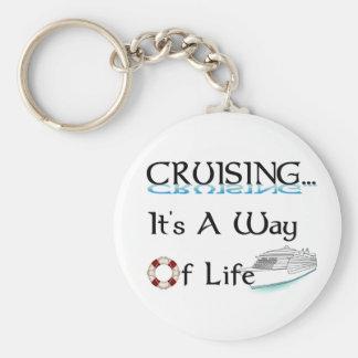 Cruising... A Way Of Life Basic Round Button Key Ring